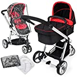 TecTake 3 in 1 Pushchair stroller combi stroller buggy baby jogger travel buggy