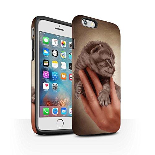 Officiel Elena Dudina Coque / Matte Robuste Antichoc Etui pour Apple iPhone 6S+/Plus / Félins/Léopard/Guerrier Design / Les Animaux Collection Minou/Voir