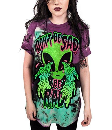 Ocean Plus Unisex 3D Druck Graffiti Alien T-Shirt Loose Fit Wild Verrückt Wahnsinn Tee Shirt Tops (XXL/3XL, 010 Don\'t Be Sad)