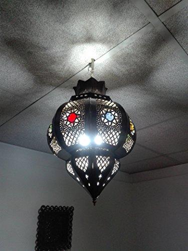 Lámpara marroquí a techo Farol Lámpara aplique étnico chic vintage árabe africano Oriental Marruecos 0944
