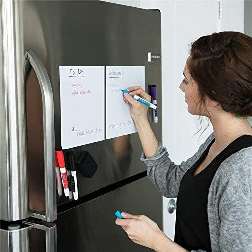 Whiteboard-Magnete, A5-Größe, trocken abwischbar, Whiteboard-Marker, Radiergummi, Schreibtafel, Memo-Pad, 1 Stück -