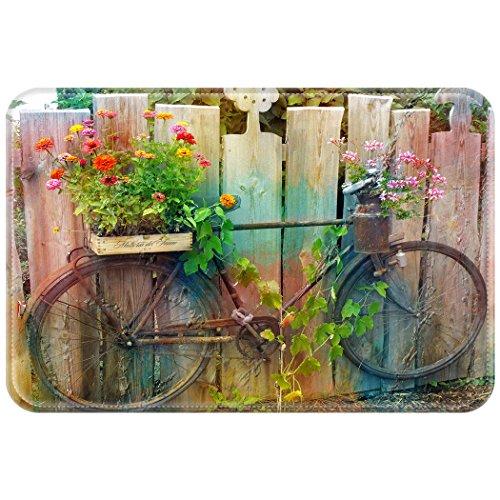 YISUMEI Alfombra Puerta Alfombrilla Felpudo Felpudo Bicicleta Bike Jardín, poliéster, Weiß, 50...