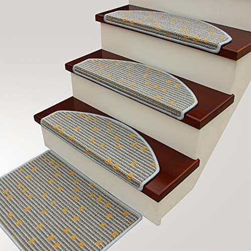 DZWLYX Treppenmatten Gummi Textilfaser - Stufenmatten,Stufenmatten Kleinformat Für Raumspartreppen/Wendeltreppen(80X24CM) (Color : Style 6, Size : 10pieces)