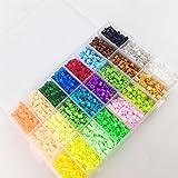 Mamimami Home Perline teether Giocattoli 5500PC Perler 5mm 24colors Box Set educativi per bambini DIY gioca Beads Fuse Plussize Pegboard fogli di carta da stiro