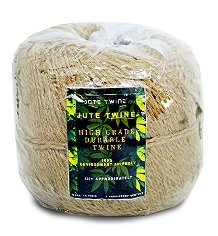 Twisted Jute Jute Twine Rope Natürliche Hanf Leinen Kordel Mehrzweck ideal für Floristen; geeignet für Blumen, Garten, Pflanzen, Kunst und Handwerk etc..
