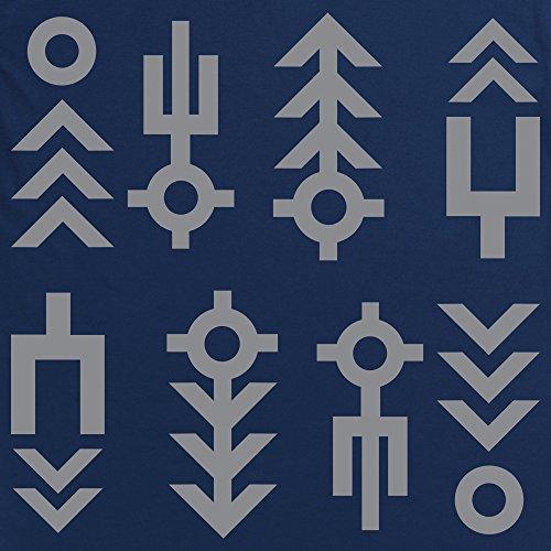 Official Alien: Covenant Symbols Logo T-Shirt, Damen Dunkelblau