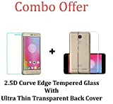 #8: M.G.R.J [ Lenovo K6 Power / Lenovo K6 ] Transparent Back Cover + Ballistic Tempered Glass Screen Protector - Maximum Impact Protection - 99.9% Crystal Clear HD Glass - No Bubbles