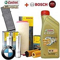 Kit Tagliando aceite Castrol Edge 0 W30 8lt 4 filtros Bosch (1457429252, 0450906457,
