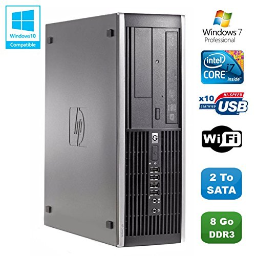 PC HP Compaq Elite 8200SFF Intel Core i7-26003.4GHz 8GB Gunmetal Brenner WiFi W7