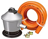 S&M Kit Regulador Gas Butano con Válvula de Seguridad, Gris/Naranja