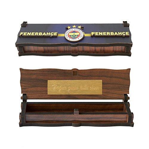 Gök-Türk Box Schatulle Aufbewahrung für Tesbih Gebetskette 'Fenerbahce' aus Holz Handgemacht (mit Gravur)