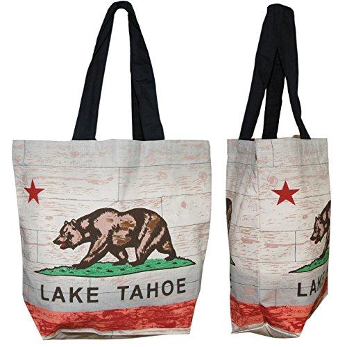 Shopper Tasche-Lake Tahoe California Flagge, umweltfreundlich wiederverwendbar Mehrzweck Leinwand Lebensmittels Tasche