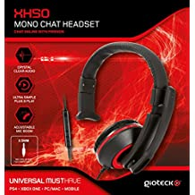 Gioteck - XH-50 Mono Chat Headset, Color Rojo (PC, Mac)