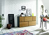 now! by hülsta to go, Wohnkombination Wohnwand Sideboard, Farbe Holz, 5er Bundle, Made in Germany