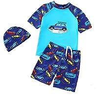 Navy-Sea Blue Arena Boy T-Shirt Camiseta Ni/ño con Protecci/ón UV 8-9 Ni/ños