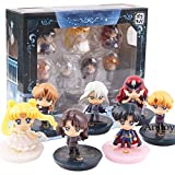 Yvonnezhang Petit-Chara! Anime Sailor Moon Figure Queen Beryl Princess Serenity Dark Kingdom Action Figure Toy 7pcs / Set 4cm, Withbox
