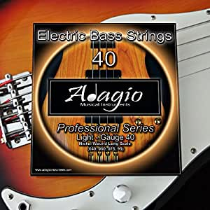 2 SETS! Adagio Professional Bass Guitar Strings 40-95