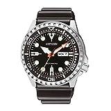 Citizen Hombre Analog Reloj Automático con Caucho Pulsera nh8380-15ee