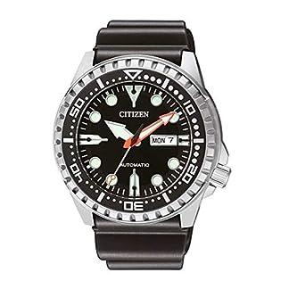 Citizen Hombre Analog Reloj Automático con Caucho Pulsera nh8380–15ee