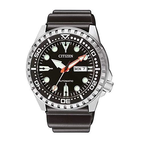 Citizen Herren Analog Mechanisch Uhr mit Kunststoff Armband NH8380-15EE