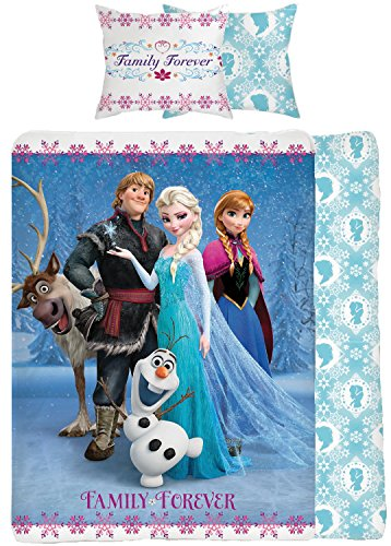 Disney Frozen familiar para siempre solo Panel Duvet Cover Bed Set