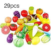 Preisvergleich für Ballylelly 29 teile/satz einzigartige kinder kinder schneiden obst gemüse essen spielen küche toys (farbe: mehrfarbige gemischt)