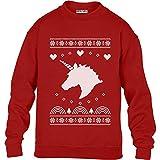 Green Turtle T-Shirts Winter Einhorn - Geschenke für Kinder Kinder Pullover Sweatshirt L 134/146 Rot