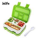 Jelife Bento Box Kids Brotdose Lunchbox Kinder für Schule Picknick Ausflug mit 5 Unterteilungen auslaufsicher grün