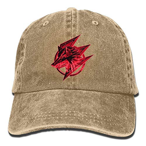 Presock Red Wolf Head Image Denim Hat Adjustable Men Snapback Baseball Cap - Baumwolle Confederate Flags