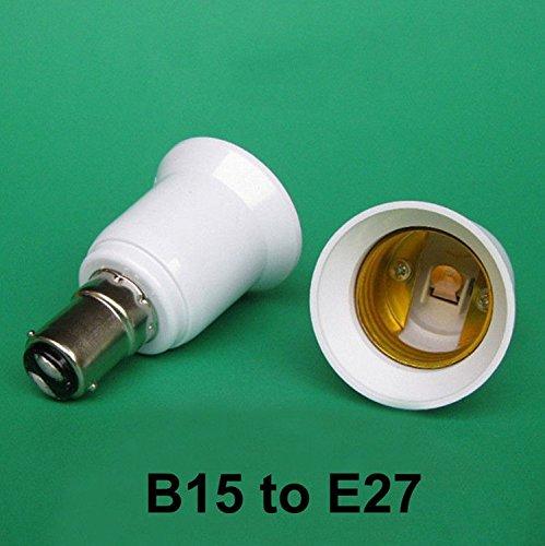 Adaptateur convertisseur de support d'ampoule YOUHONG® 2Pack B15 à adaptateur de base E27