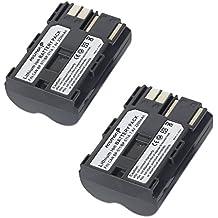 Fosmon 1Pack Canon BP-5112200mAh 7,4V alta capacidad de repuesto li-ion batería para cámara digital Canon EOS 50d/20d/300d/350d/30d/40d/D30/D60/Kiss Digital–Fosmon empaquetado al por menor