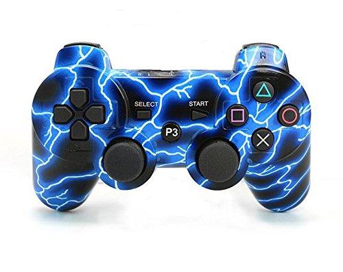Gamepad Controller Wireless Spiele Doppel-Erschütterungs der Kontrolleure für ps3. (Der Blaue - Controller Wireless Blau Ps3