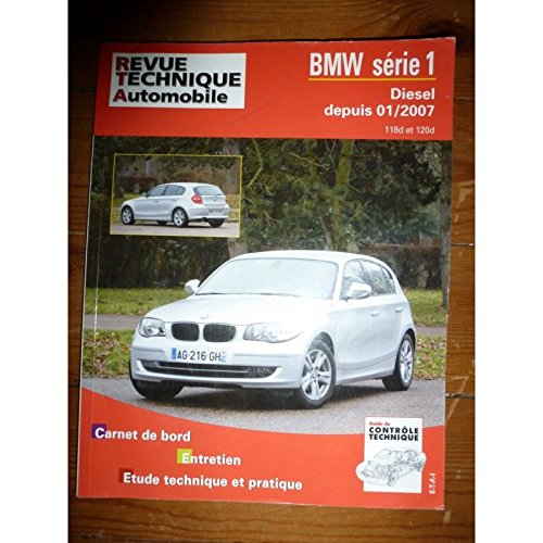 RRTAB0739.5 – REVUE TECHNIQUE AUTOMOBILE BMW SERIE 1 DIESEL depuis 01/2007 118d – 120d