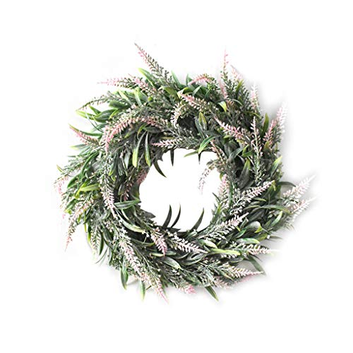 Hunpta@ Weihnachtskranz,Weihnachten Rattan Garland Türkranz Wandkranz, handgefertigte Kunstblumendeko für Zuhause, Parties, Türen, Hochzeiten girlanden Weihnachten Silvester (G)