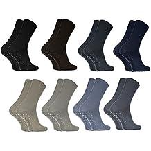 2,4 o 8 paia di calzini ANTISCIVOLO SENZA PRESSIONE per i Diabetici, di Cotone Multicolori 36-46, ideali per i Piedi Gonfi, Vene Varicose, Comodi e Gentili, Certificato Oeko-Tex, prodotti in Europa