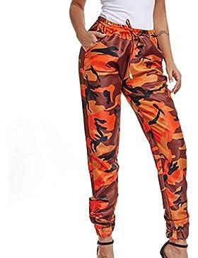 Donna Nuovi Moda Casual Con Coulisse Mimetico Stampato Confortevole Fitness Sport Pantaloni Camo Pantaloni All'Aperto...