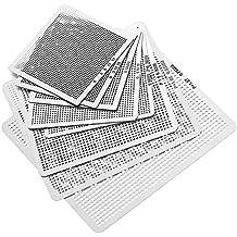 syalex (TM)–8pcs Mini BGA Stencils Set Universal BGA Directamente Heat plantillas de reballing accesorios 0,3/0,35/0,4/0.45/0.5/0,55/0,6/0.76mm