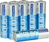 Batterien Lithium AA Mignon FR06 L91 ideal für Outdoor Einsatz: langlebig, leicht und temperatur-unempfindlich (Vorratspack 8 Stück)