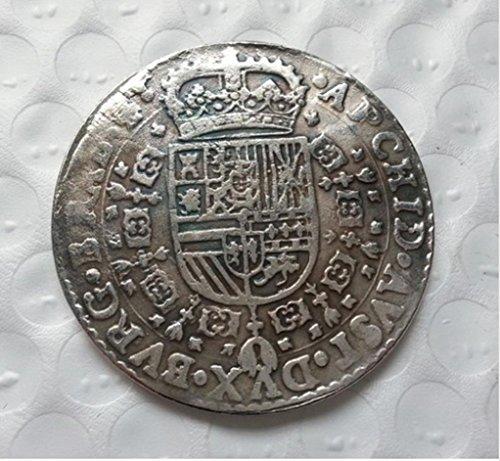 RARE Antique Ancient European Holy Roman Empire 1649 Silver Color Coin Medal Thaler Seltene Münze -
