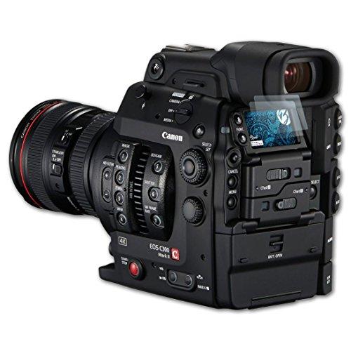 Bruni Canon EOS C300 Mark II Folie - 2 x glasklare Displayschutzfolie Schutzfolie für Canon EOS C300 Mark II
