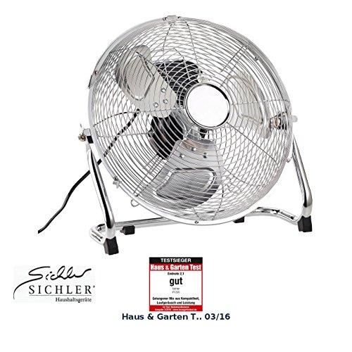 Sichler Haushaltsgeräte Windmaschine: Vollmetall-Bodenventilator mit 3 Geschwindigkeitsstufen, 55 W, Ø 30 cm (Standventilatoren)