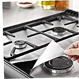 6pcs Quemador de la Estufa de Gas de la Estufa Cubre Protector Reutilizable Antiadherente Top Liner Accesorios Cocina de Gas