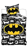 DC Universe Bettwäsche Batman Logo DC Comics–Bettbezug 140x 200cm Kopfkissenbezug 63x 63cm