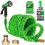 Suplong 100ft Garden Hose Pipe Expandable Flexible Hose With 8 Function Spray Gun/Hose