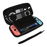 Tasche für Nintendo Switch - GOSCIEN Harte Reise Hülle Case Stoßfest wasserdicht mit größerem Speicherplatz 8 Spiele für Nintendo Switch