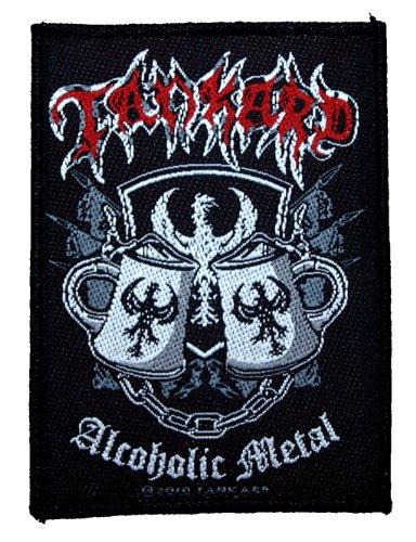 Tankard Toppa con scritta Alcoholic Metal [in lingua inglese], 7,5 x 10 cm