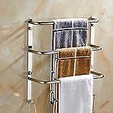 XXTT-Estante de toalla de baño de acero inoxidable, estante de toalla de baño de acero inoxidable durable, barra de toalla creativo de terraza de tres capas , 44cm towel bar