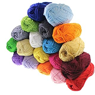 Double Knit Starter Bumper Pack, 20 x 25g Balls of Assorted Double Knitting Yarn, 100% Acrylic [ARTUROLUDWIG]