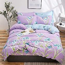 BFMBCH Famille literie Appartement hôtel Coton Coton Quatre pièces Housse de Couette draps Textile de Maison S2 200cmx230cm