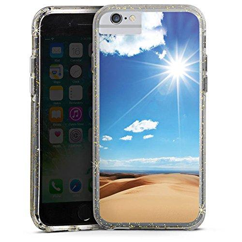 Apple iPhone 6s Bumper Hülle Bumper Case Glitzer Hülle Sand Sonne Sun Bumper Case Glitzer gold